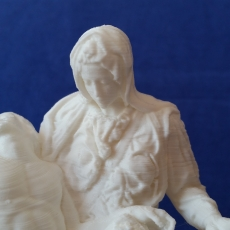 This print has been uploaded by : Dominik Marnet : Printed this Pieta with an Ultimaker 2. Layer Height: 0,1mm Mat: PLA White Time: 6 hours Infill: 25% Scaled it down to about 8,5 cm  Looks great, i like it!