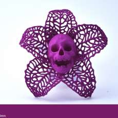 Picture of print of Skeletal Flower Pendant