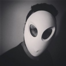 Picture of print of COURT OF OWLS  Halloween mask