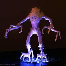 """This print has been uploaded by : Marco Valenzuela : Pumpkin's Wrath 3d printed in White PLA plastic 6"""" tall."""