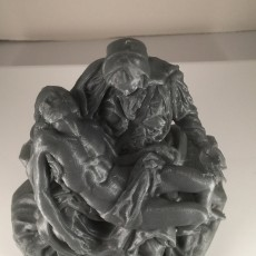 """This print has been uploaded by : Christian Temple : Silver esun PLA at .2mm layer height and 20% infill. 5""""x3""""x5"""""""