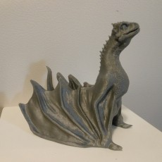 """Picture of print of Drogon From """"Game of Thrones"""""""