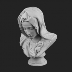 Picture of print of Bust of Mary from Pietà in St. Peter's Basilica, Vatican