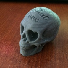 Picture of print of Love Skull