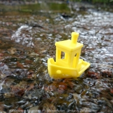 This print has been uploaded by CreativeTools.se, #3DBenchy enjoying summer in #stockholm. #3print and photo by @DanielNoree