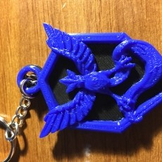 This print has been uploaded by Andy Jaco, Key chain with a back I made for it.