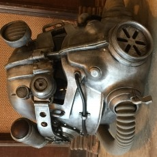 This print has been uploaded by Steven B., My Fallout 3 T-45d power armor helmet.