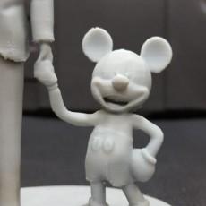 Picture of print of Disney Partners Sculpture at Disneyland Resort, California