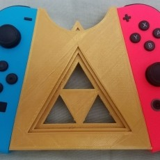Picture of print of Zelda inspired Nintendo switch joycon holder