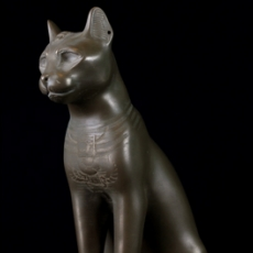 This print has been uploaded by Scan The World, Gayer Anderson Cat printed in bronze filament