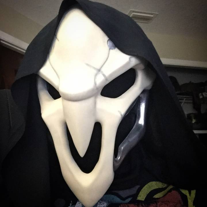 Picture of print of OverWatch's Reaper Mask! This print has been uploaded by Burt
