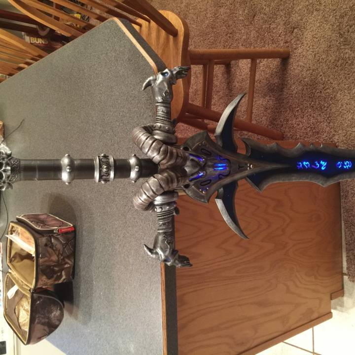 Picture of print of Frostmourne from Warcraft This print has been uploaded by Tyler