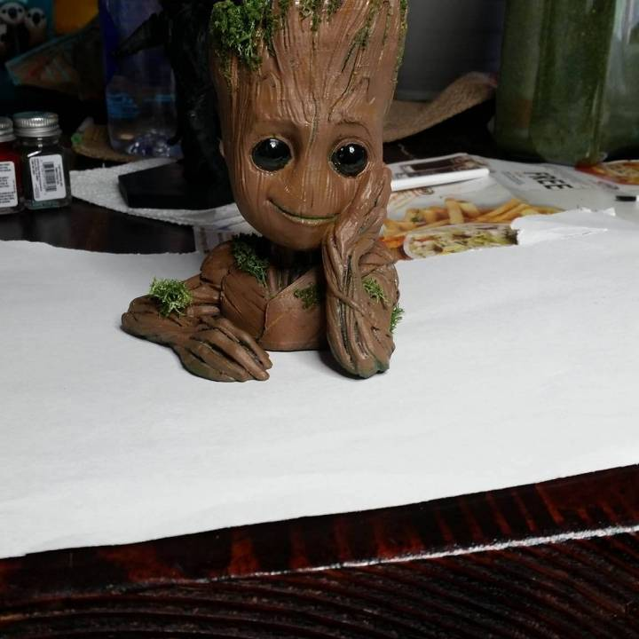 "Picture of print of Baby Groot flower pot: ""Gardens"" of the Galaxy 2 This print has been uploaded by James Nelson"
