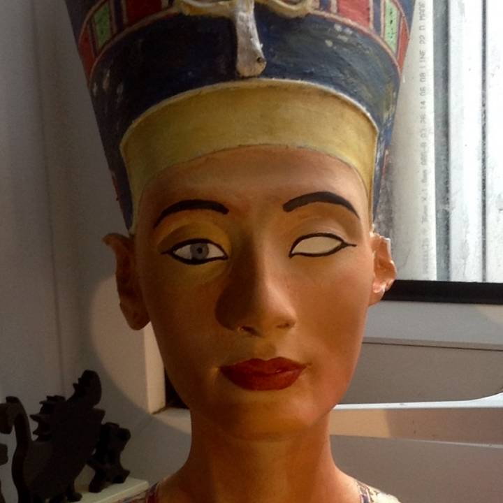 Picture of print of Bust of Nefertiti at the Neues Museum, Berlin This print has been uploaded by Heather Griffiths