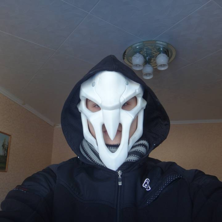 Picture of print of OverWatch's Reaper Mask! This print has been uploaded by Heorhi Puhachou