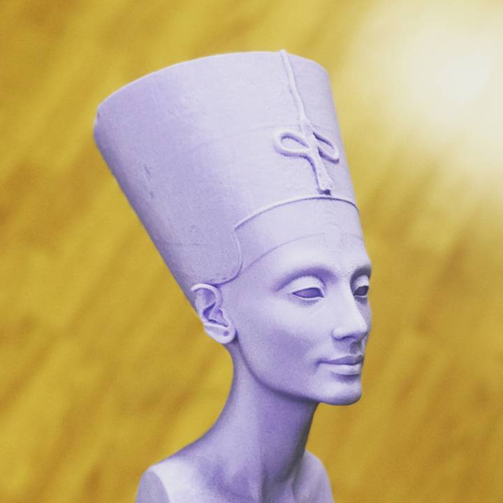 Picture of print of Bust of Nefertiti at the Neues Museum, Berlin This print has been uploaded by Entresd