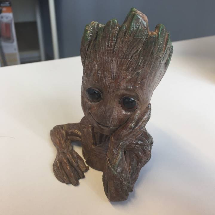 "Picture of print of Baby Groot flower pot: ""Gardens"" of the Galaxy 2 This print has been uploaded by Darrin Mossor"