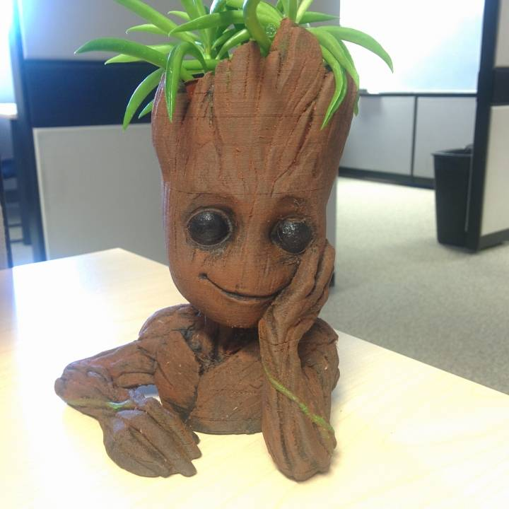 "Picture of print of Baby Groot flower pot: ""Gardens"" of the Galaxy 2 This print has been uploaded by Ian McCombe"