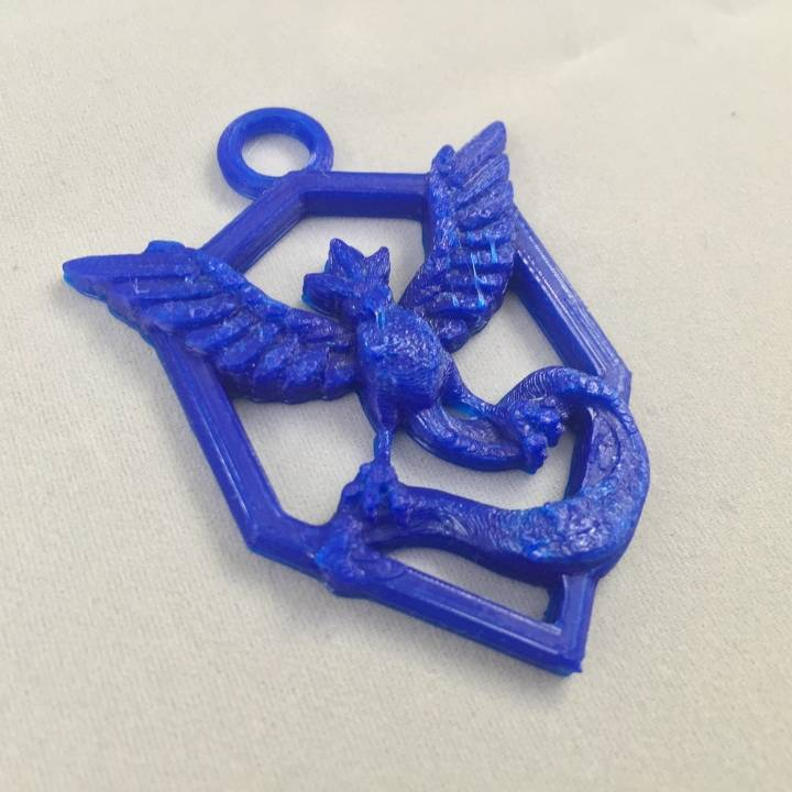 Picture of print of Pokemon Go : Team Mystic Pendant This print has been uploaded by John Fitzpatrick