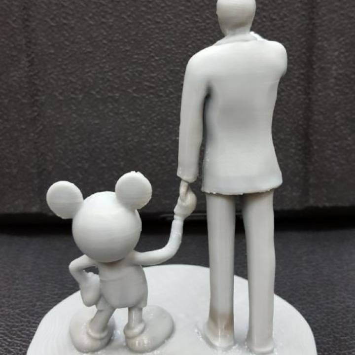 Picture of print of Disney Partners Sculpture at Disneyland Resort, California This print has been uploaded by Peter Song