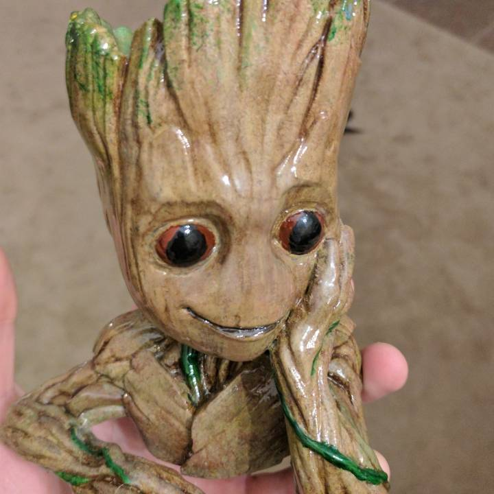 "Picture of print of Baby Groot flower pot: ""Gardens"" of the Galaxy 2 This print has been uploaded by James Alday"