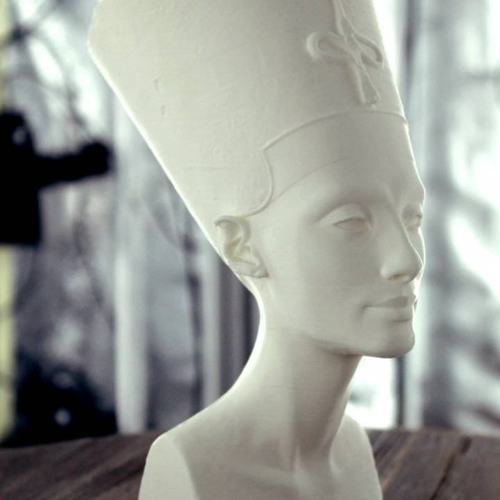 Picture of print of Bust of Nefertiti at the Neues Museum, Berlin This print has been uploaded by Scan The World