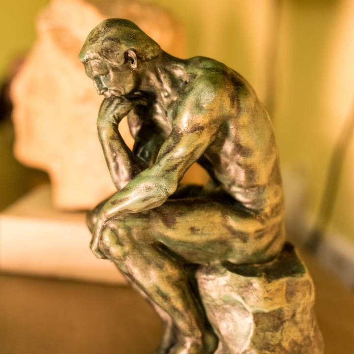 Picture of print of The Thinker at the Musée Rodin, France This print has been uploaded by Panayiotis Kyriakou