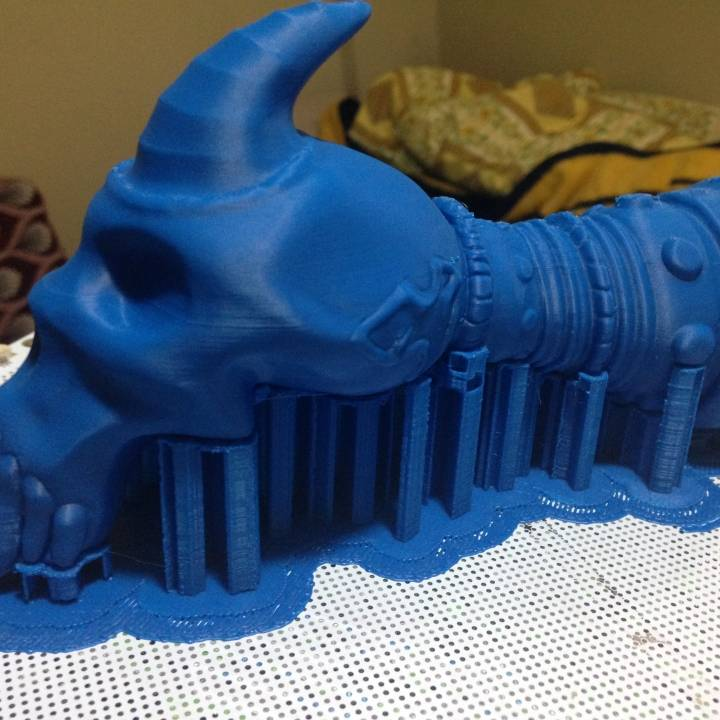 This print has been uploaded by ozgur duman, Thanks for data I printed head just mesh its  not  full.this is  for experience print. time to clean   and paint.