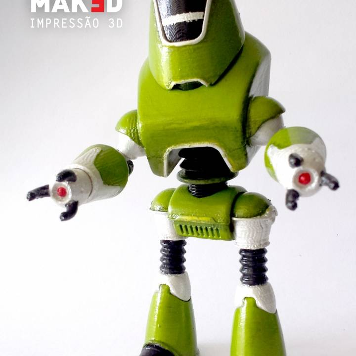 Picture of print of Fallout 4 - Protectron Action Figure This print has been uploaded by Maked 3D