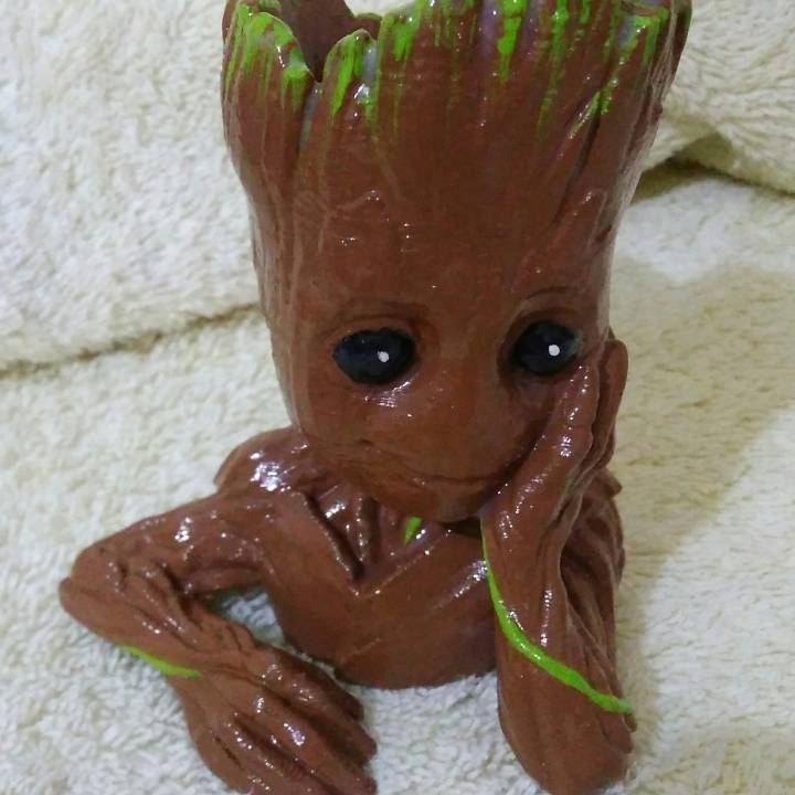 "Picture of print of Baby Groot flower pot: ""Gardens"" of the Galaxy 2 This print has been uploaded by Marcelo"