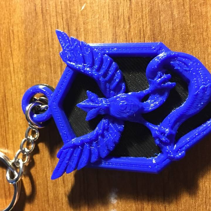 Picture of print of Pokemon Go : Team Mystic Pendant This print has been uploaded by Andy Jaco