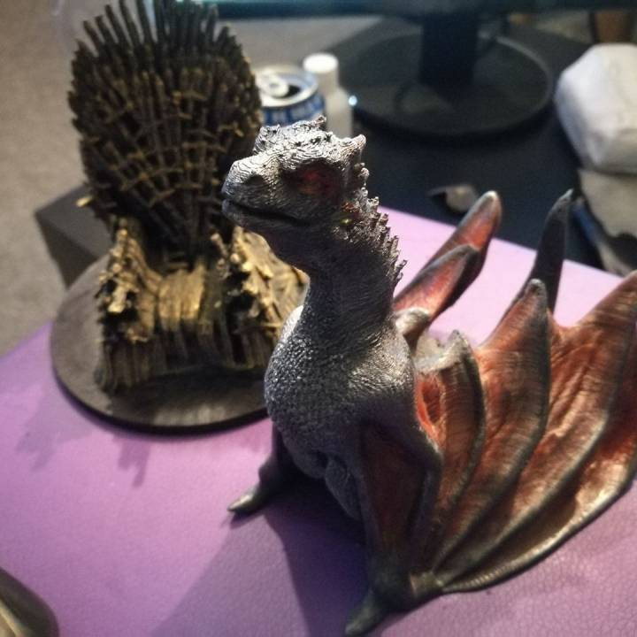 """Picture of print of Drogon From """"Game of Thrones"""" This print has been uploaded by John Kelly"""