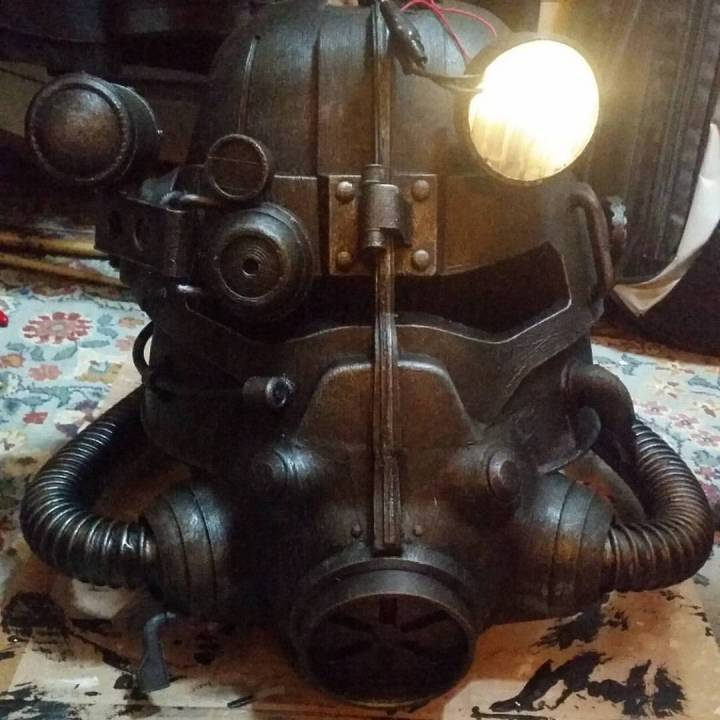 Picture of print of Fallout 3 - T45-d Power Armour Helmet This print has been uploaded by Riaz Sulaimi