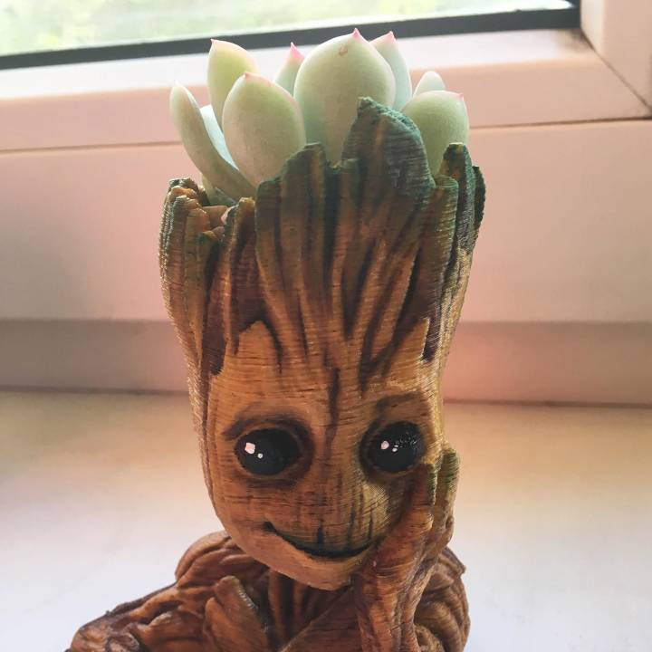"Picture of print of Baby Groot flower pot: ""Gardens"" of the Galaxy 2 This print has been uploaded by Oleksii"