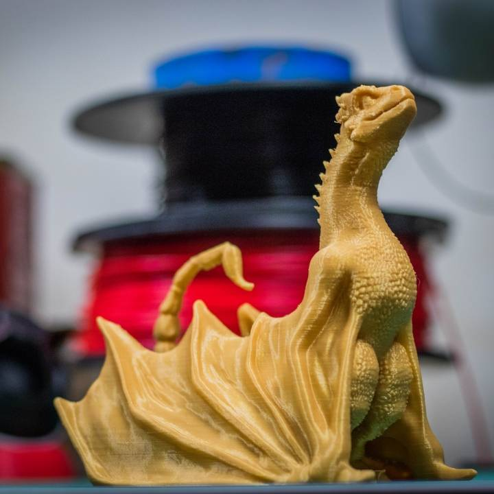 """Picture of print of Drogon From """"Game of Thrones"""" This print has been uploaded by James"""