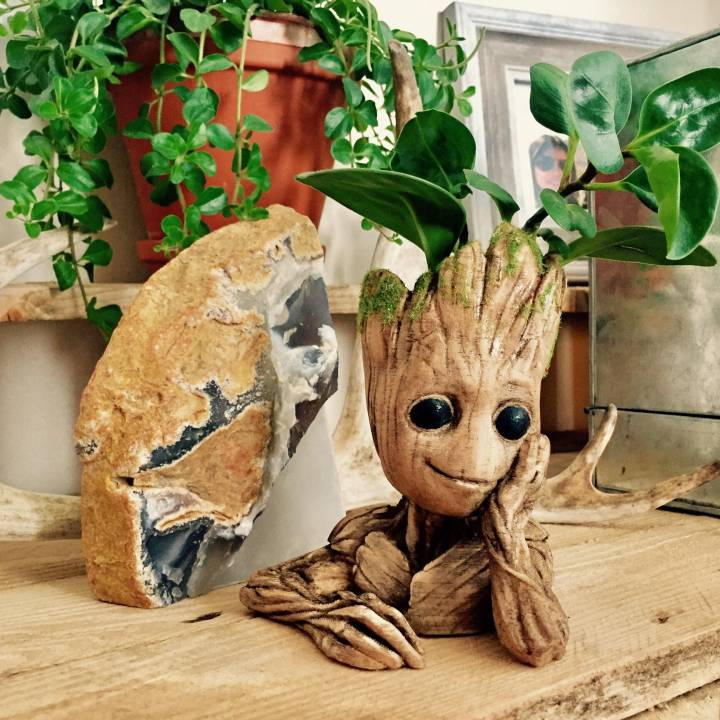 "Picture of print of Baby Groot flower pot: ""Gardens"" of the Galaxy 2 This print has been uploaded by andreas leijon"