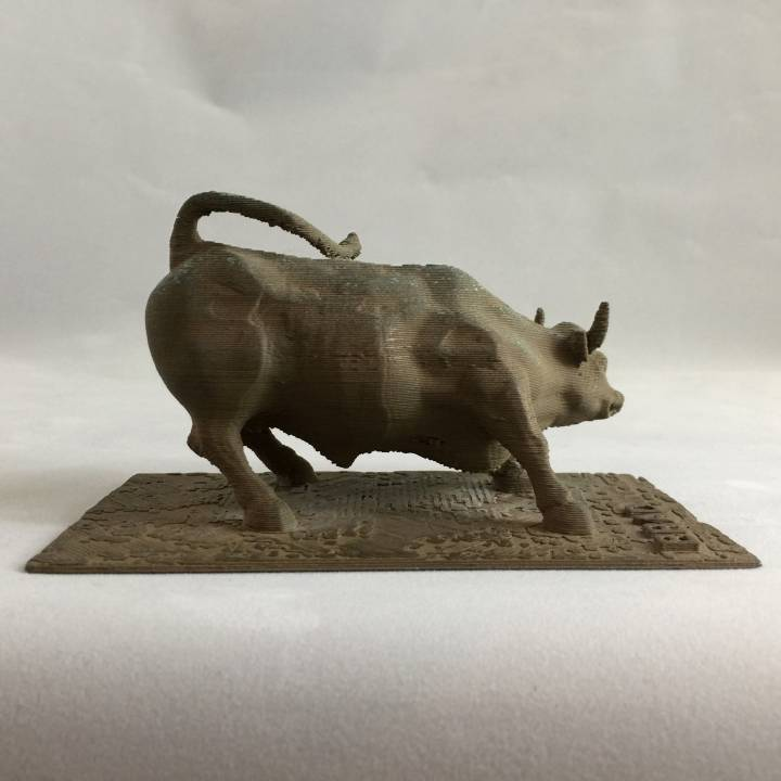 This print has been uploaded by John Fitzpatrick, I printed this out for a friend using bronzeFill by colorFabb and aged it by suspending it above a hydrogen peroxide and salt mix.