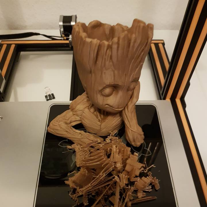 "Picture of print of Baby Groot flower pot: ""Gardens"" of the Galaxy 2 This print has been uploaded by Phil"