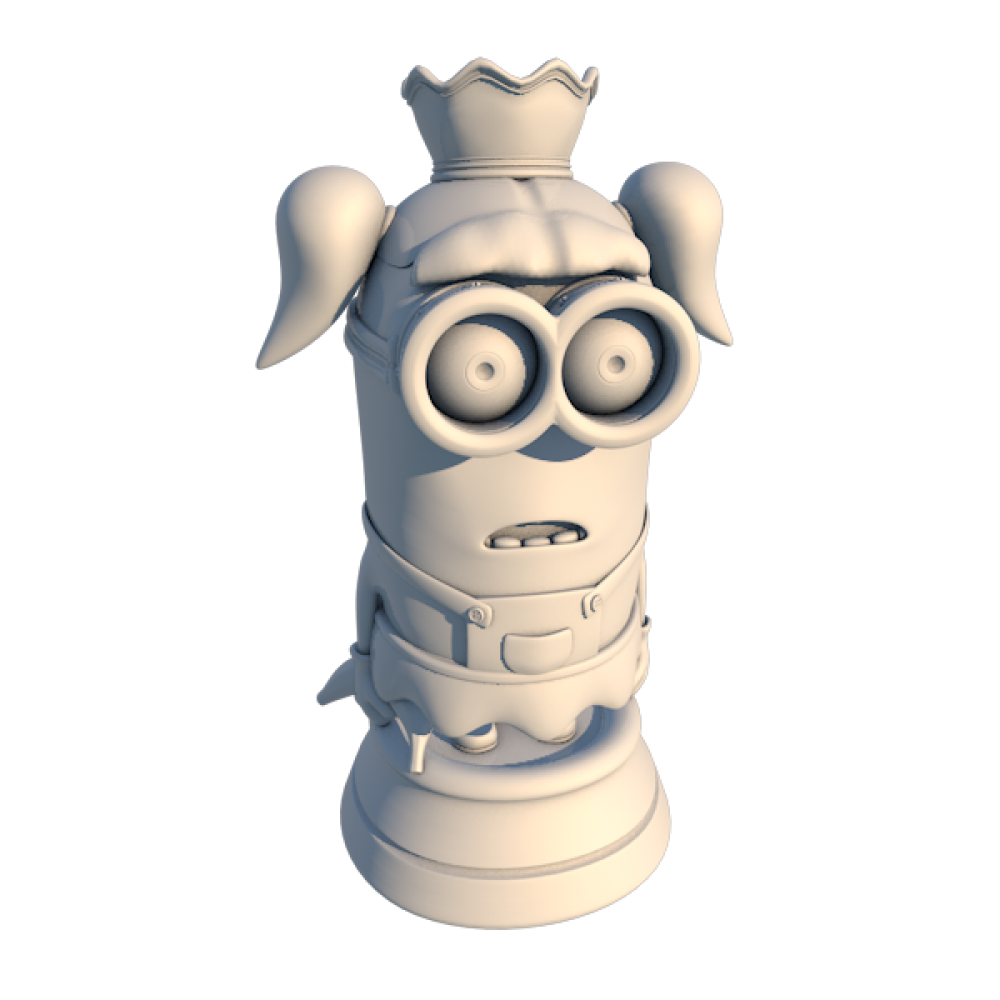 Chess Minion Queen MyMiniFactory