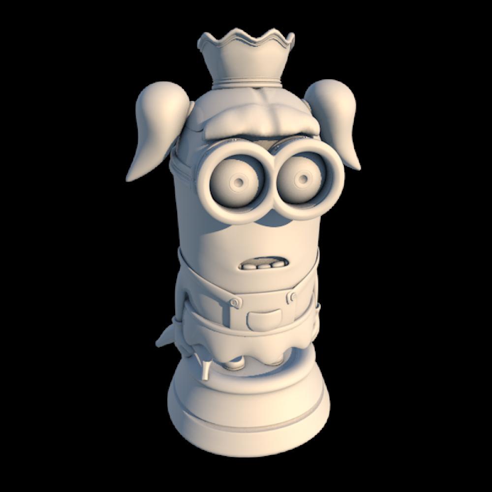 Chess Minion Queen MyMiniFactory