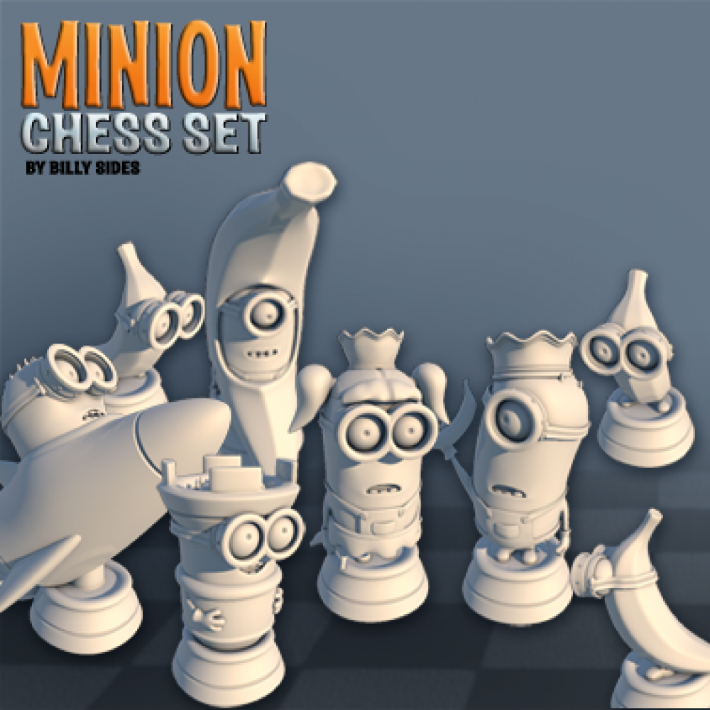 Minion Chess Set MyMiniFactory