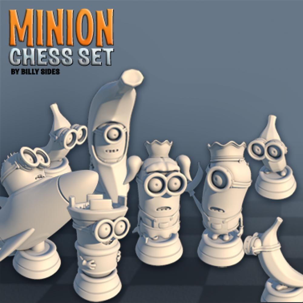 Minion Chess Set MyMiniFactory