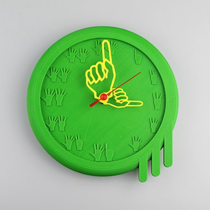Finger counting wall clock