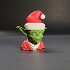 Picture of print of Santa Yoda