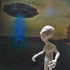 Grey Alien print image