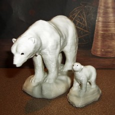 Picture of print of Polar bears on ice