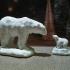Polar bears on ice print image