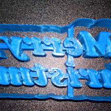Picture of print of Merry Christmas - Cookie Cutter Set
