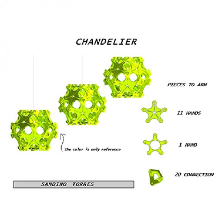 Manos Chandelier