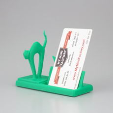 Mr Cat Says Meow Business Card Holder